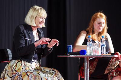 Očekávaným zahraničním hostem byla Hattie Hayridge, alias Holly z kultovního seriálu Červený trpaslík. Foto Jaroslav Houdek