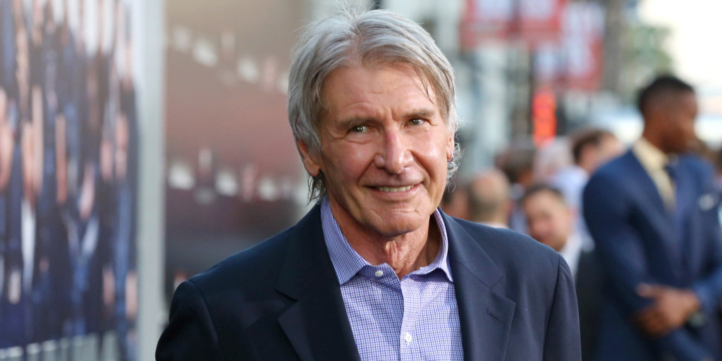 """Harrison Ford arrives at the Lionsgate Los Angeles premiere of """"The Expendables 3"""" at TCL Chinese Theatre on Monday, Aug. 11, 2014, in Hollywood, Calif. (Photo by Alexandra Wyman/Invision for Lionsgate/AP Images)"""